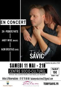 Teddy Savic - Concert Nazelles-Négron - 11 mai Joanna BalamProductions